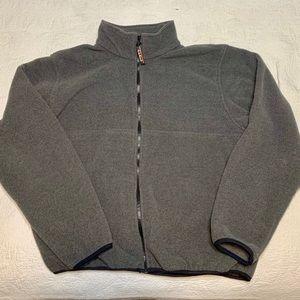 L.L. Bean Zip Up Gray Fleece Jacket Outdoor Hiking